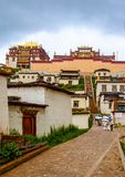 云南Songzanlin喇嘛寺院  库存图片