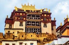 云南Songzanlin喇嘛寺院  免版税库存照片