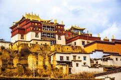 云南Songzanlin喇嘛寺院  库存照片