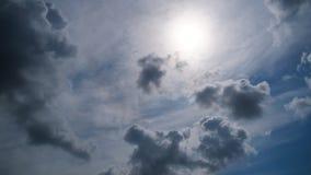 云在蓝天平稳移动 时间 股票视频