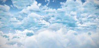 阴云密布看法反对蓝天的 库存图片