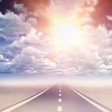 阴云密布看法的综合图象反对蓝天的 图库摄影