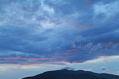 云彩、光和光芒 库存照片