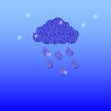 云彩丢弃雨 抽象背景 图库摄影