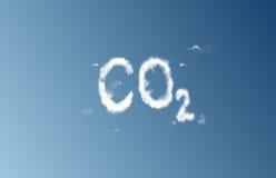 云彩二氧化碳 库存图片