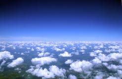 云彩从上面& 库存照片