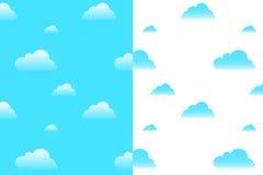 云彩仿造无缝的向量 免版税图库摄影