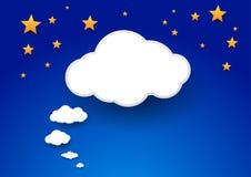 云彩作为巨型讲话泡影 免版税库存图片