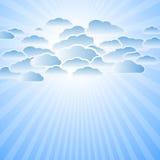 云彩光芒星期日 向量例证