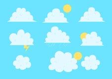 云彩动画片组装 库存图片
