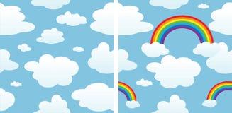 云彩包括无缝的彩虹 库存照片