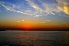 云彩和光在日出 免版税库存图片
