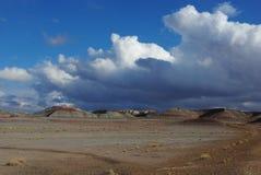 云彩和在化石森林的蓝天 库存图片