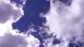 云彩和天空加速的录影 股票视频