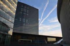 云彩和天空在卢森堡 图库摄影