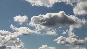 云彩和天空时间间隔 股票录像