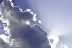 云彩和太阳1 库存图片
