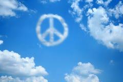云彩和平 免版税图库摄影