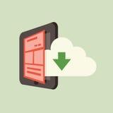 云彩和智能手机 免版税库存图片