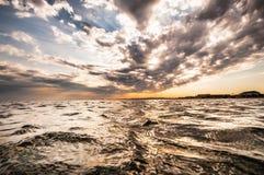 云彩和海运 图库摄影