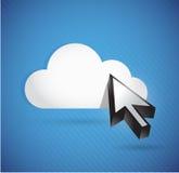 云彩和游标。连接概念 库存照片