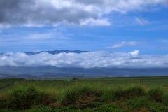 云彩和火山Haleakala 库存照片