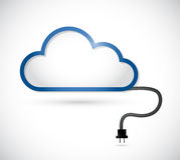 云彩和电缆接线。例证设计 库存照片