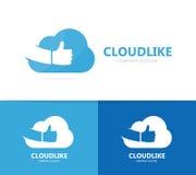 云彩和象商标组合 存贮和最佳的略写法设计模板 库存图片
