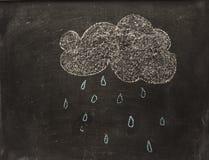 云彩和雨 库存照片