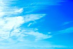 云彩和bluesky 免版税库存图片
