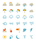 云彩图标雨星期日天气 库存图片