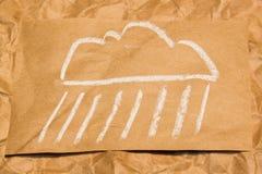 云彩图标雨星期日天气 免版税库存照片