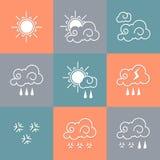 云彩图标雨星期日天气 图库摄影