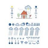 云彩图标雨星期日天气 库存照片