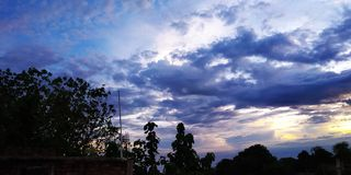 云彩图片在印度村庄 图库摄影