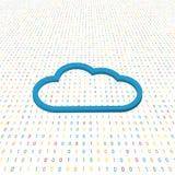 云彩在数字式背景的标志网络