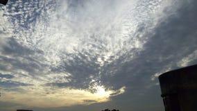 云彩在晚上 免版税库存照片