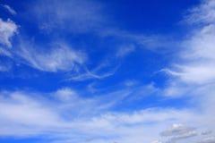 云彩在蓝天背景中 免版税库存照片