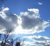 云彩在衣阿华 库存图片