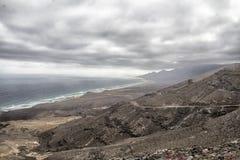 云彩在费埃特文图拉岛 免版税库存照片