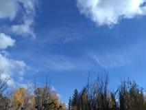 云彩在9月和10月美妙地形成在斯波肯 库存照片