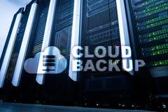 云彩备份 服务器数据预防损失的措施 网络安全 免版税库存图片