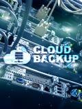 云彩备份 服务器数据预防损失的措施 网络安全 库存照片