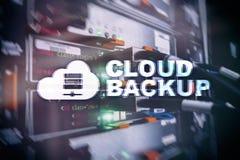 云彩备份 服务器数据预防损失的措施 网络安全 图库摄影