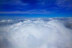云彩天空航空器视图海  库存照片