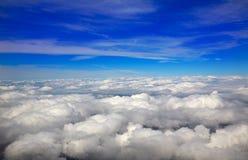 云彩天空航空器视图海  库存图片