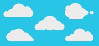 云彩天空,自然背景 皇族释放例证