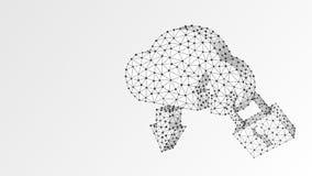 云彩存贮,安全锁 多角形互联网服务器保护,密码,保密性概念 r 皇族释放例证