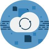 云彩存贮数据Sync摘要象 免版税库存图片