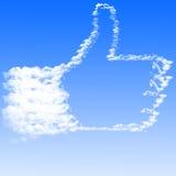 云彩形成象白色的现有量 免版税图库摄影